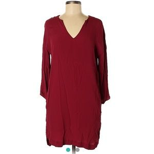 Madewell Long Sleeved Red Dress